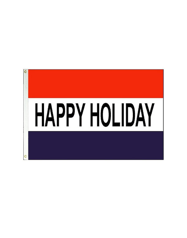 Happy Holiday 3x5 Polyester Flag