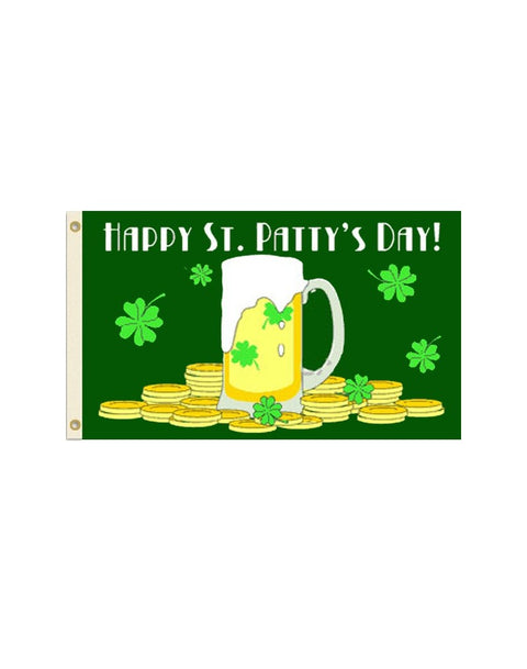Happy St. Patty's Day 3x5 Polyester Flag