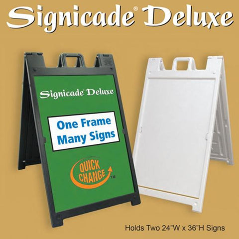 "Signicade Deluxe A-Frame with 2 Custom 24"" x 36"" Signs"