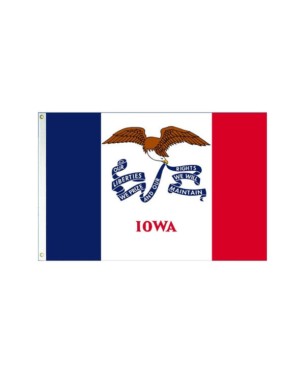 Iowa 3x5 Polyester Flag