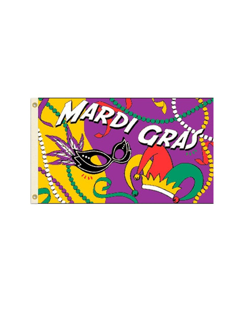 Mardis Gras Party 3x5 Foot Polyester Flag