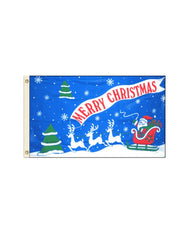Merry Christmas - Santa 3x5 Polyester Flag