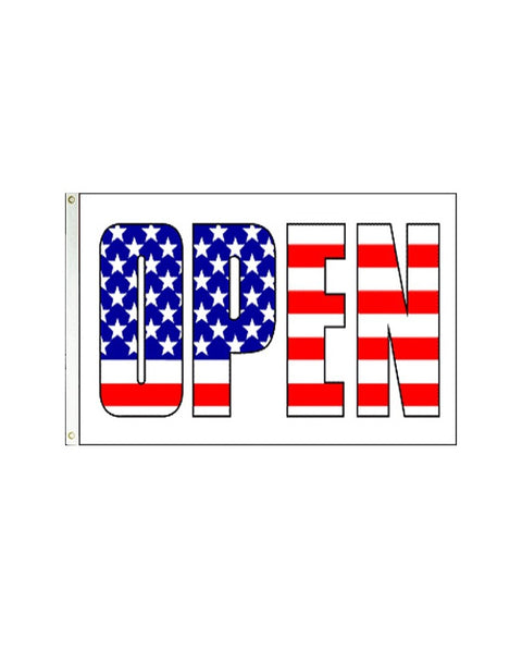 Open Patriotic 3x5 Polyester Flag