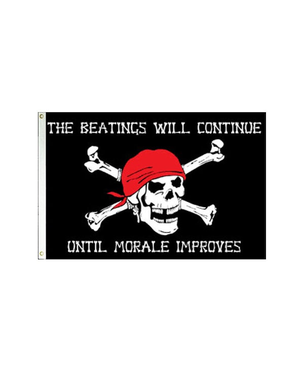 Pirate Morale 3x5 Polyester Flag