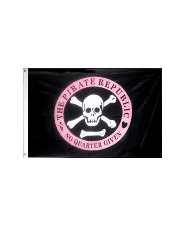 Pirate Republic 3x5 Polyester Flag