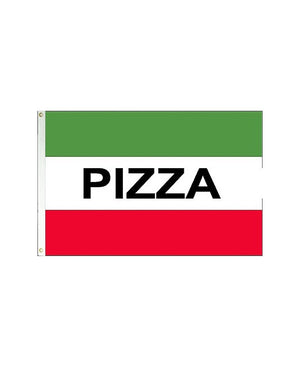 Pizza 3x5 Polyester Flag (Green, White, Red)