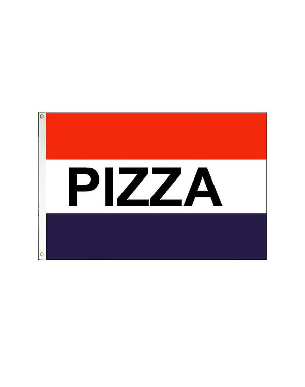PIZZA (Red, White & Blue) 3x5 Polyester Flag