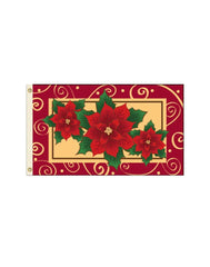 Poinsettia 3x5 Polyester Flag
