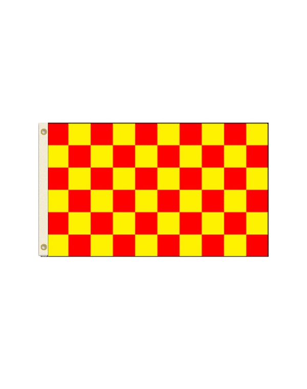 Red and Yellow Checkered 3x5 Polyester Flag