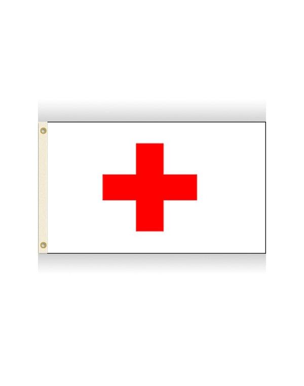 Red Cross 3x5 Polyester Flag