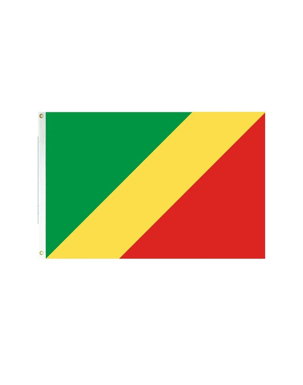 Republic of Congo 3x5 Polyester Flag