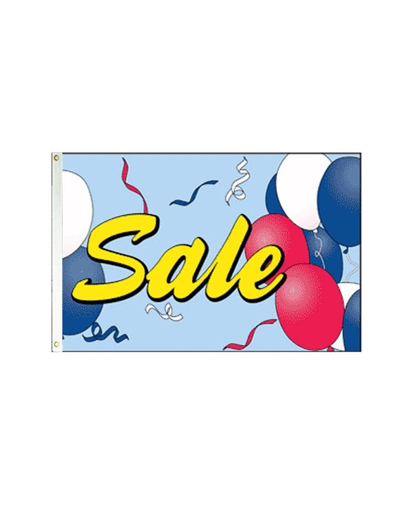Sale (Balloons) 3x5 Polyester Flag