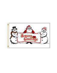 Season's Greetings 3x5 Polyester Flag