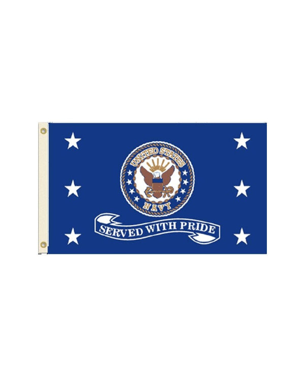 Served With Pride - US Navy 3x5 Polyester Flag