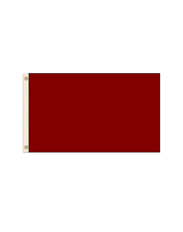 Solid Burgundy 3x5 Polyester Flag
