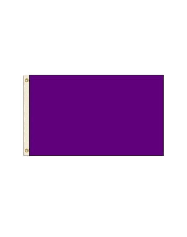 Solid Purple 3x5 Polyester Flag