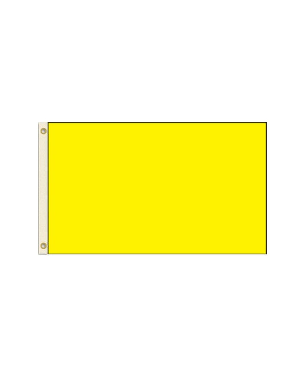 Solid Yellow 3x5 Polyester Flag
