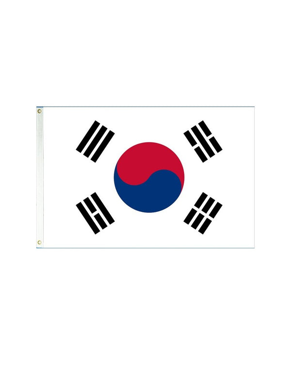 South Korea 3x5 Polyester Flag