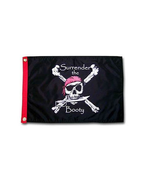 Surrender the Booty 3x5 Pirate Flag (BLACK)