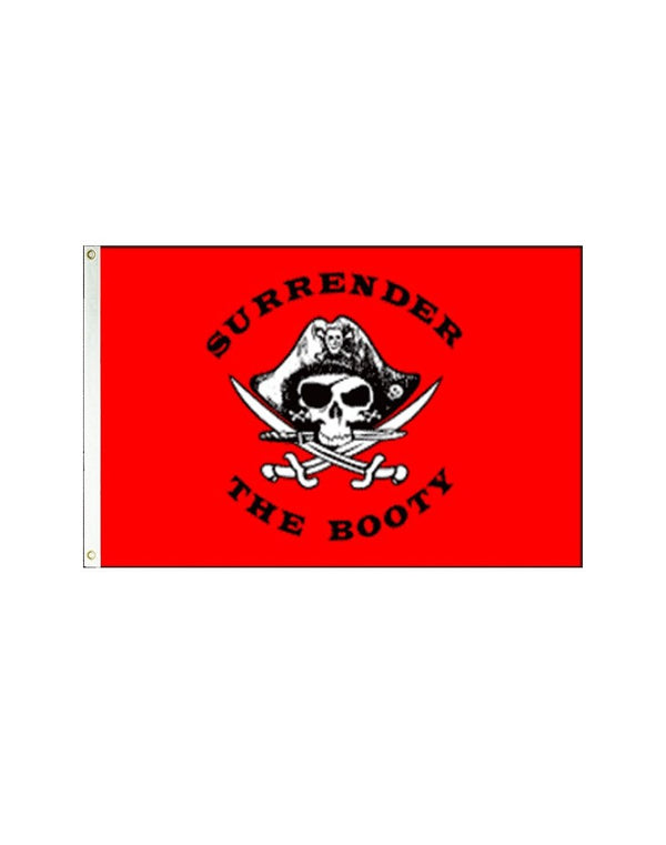 Surrender the Booty Pirate 3x5 Polyester Flag