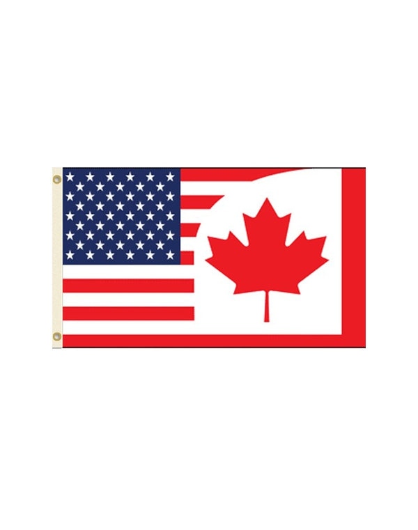 USA/Canada Combination 3x5 Polyester Flag