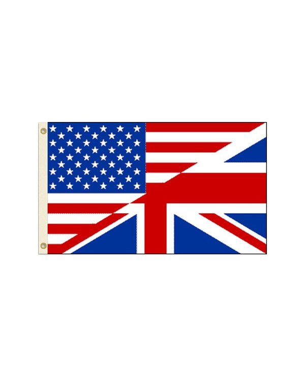 USA UK Friendship 3x5 Foot Polyester Flag
