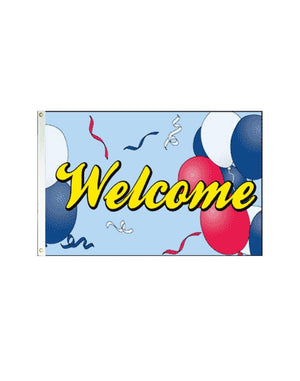 Welcome (Balloons) 3x5 Polyester Flag