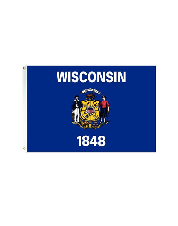 Wisconsin 3x5 Polyester Flag