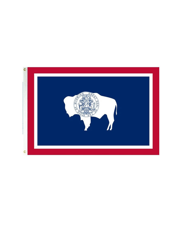 Wyoming 3x5 Polyester Flag