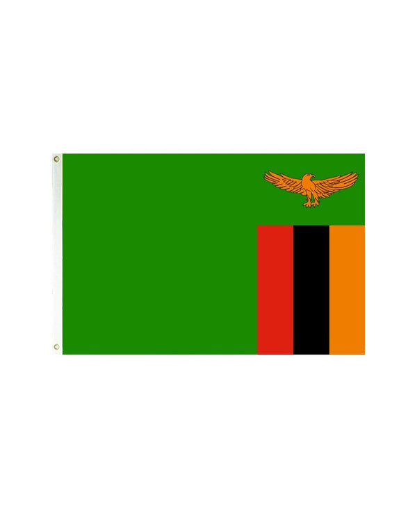 Zambia 3x5 Polyester Flag