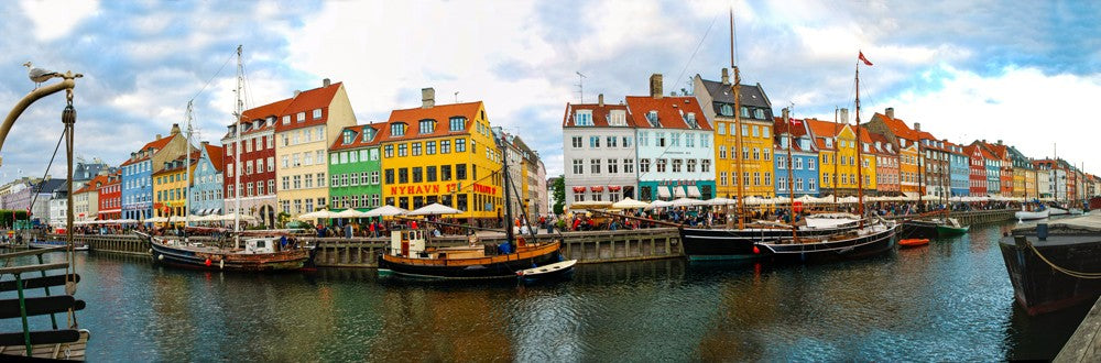 Beautiful panorama shot of Copenhagen