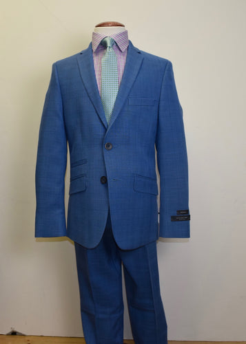 Medium blue glenn plaid Suit