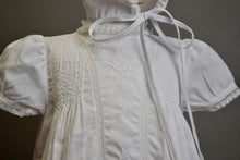 Load image into Gallery viewer, Christening Gown With Tucks Embroidered Panel