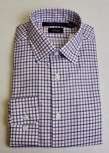 Navy and Lavender Tattersal Shirt