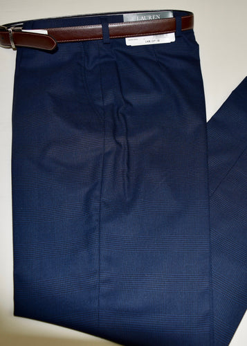 Trouser Royal/Navy Glenplaid By Lauren