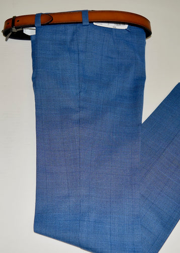 Med Blue Glen-Plaid Trouser.