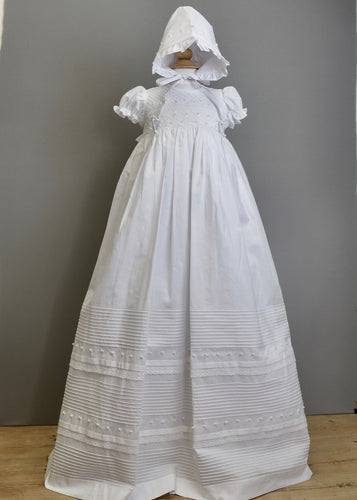 Christening Pearl Smocked Gown