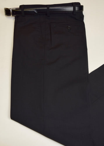 Black Washable Gaberdine Trouser By Tallia