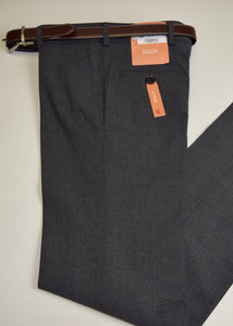 Grey Washable Gaberdine Trouser Tallia