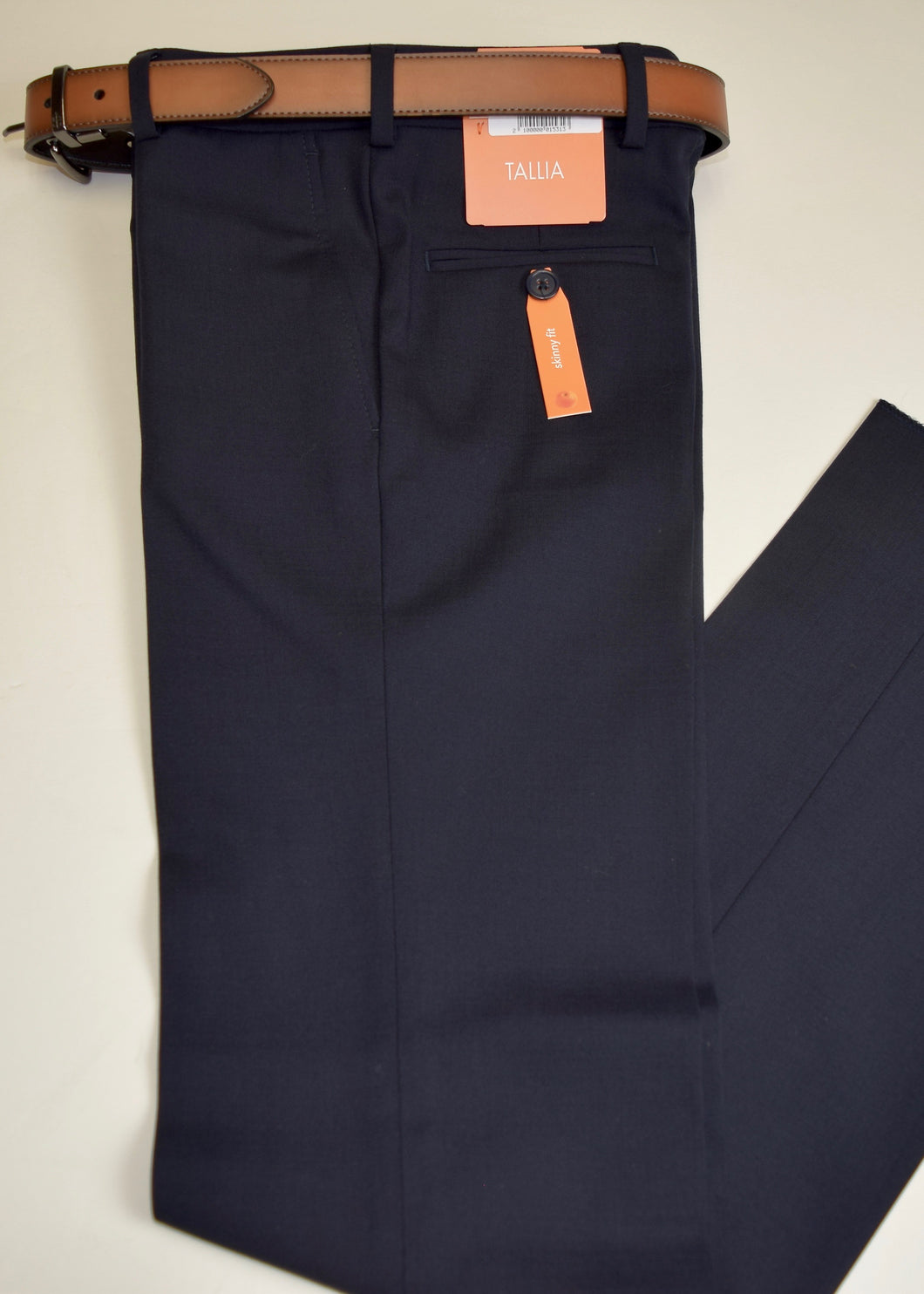 Navy Washable Gaberdine Trouser Tallia