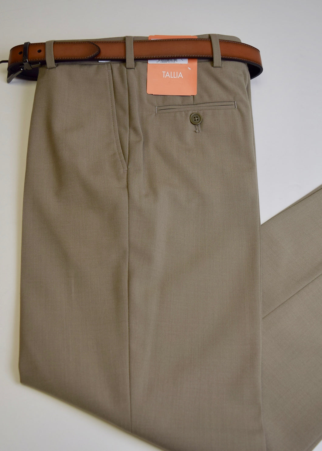 Tan Washable Gaberdine Trouser Tallia