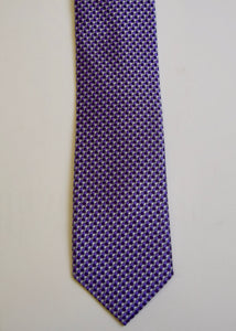 Purple Geometric Jacquard  Boys Tie