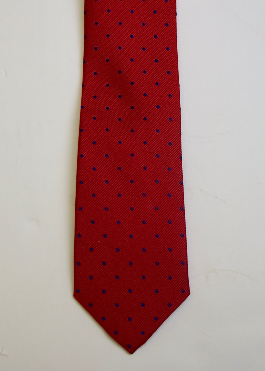 Red Navy Dot Boys Tie