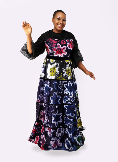 Caribbean Dress: Maxi Organza Sleeves