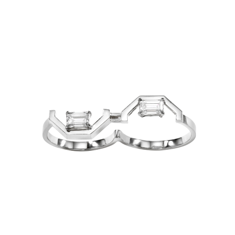 Angles by Âme Two Finger Ring