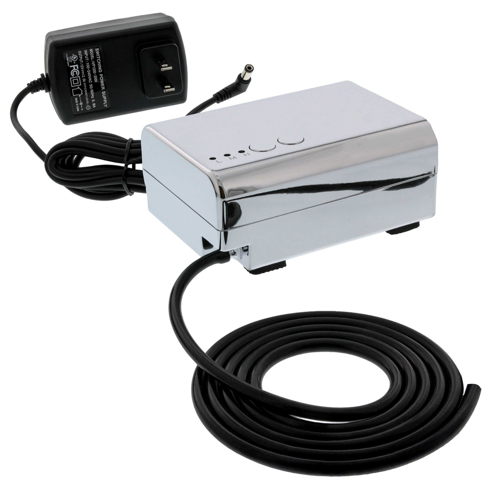 Mini Airbrush Compressor; Professional Quiet Compressor with 3 Airflow Control Settings & 6' Push On Hose