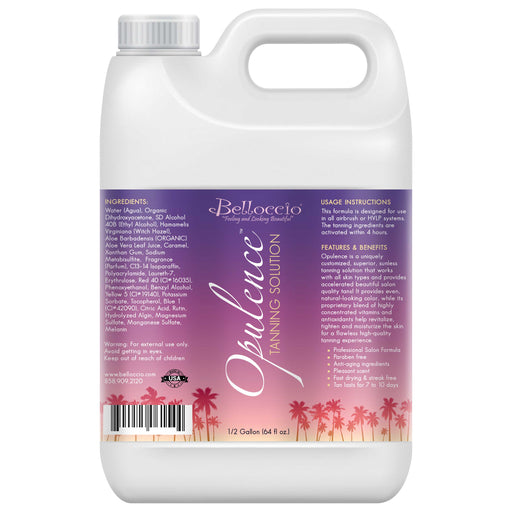 "1/2 Gallon (2 Quarts) of ""Opulence"" by Belloccio; Ultra Premium Sunless DHA Tanning Solution"