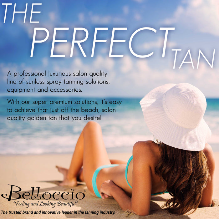 Belloccio Sunless Spray Tanning Accessories Kit: Tanning Feet Pads, Hair Net Caps, Bras, Panties, Nose Filter Plugs - Disposable Hygienic Client Body Cover-Up Protection During Salon Spraying Session