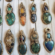 Handmade Clay Gemstone Pendants