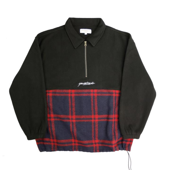 Tartan Split Fleece (Black)
